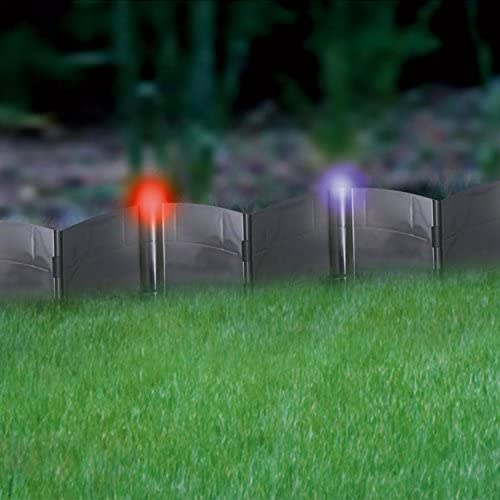 24 Pack Solar Powered Led Light Up Lamp Hammer In Garden Lawn Edging Path Border