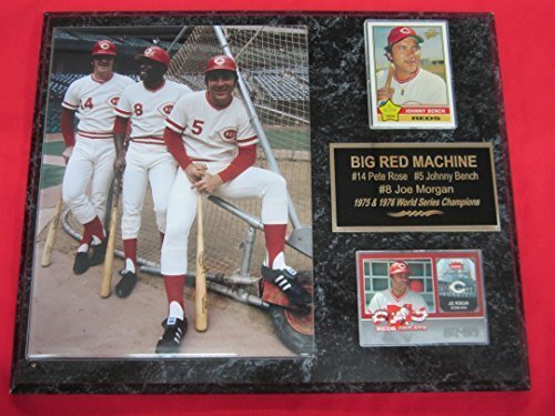 Pete Rose Johnny Bench Joe Morgan BIG RED MACHINE 2 Card Collector Plaque #2 w/8x10 RARE Photo