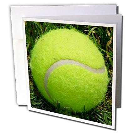 Amazon 3drose tennis ball photo in the grass greeting cards 3drose tennis ball photo in the grass greeting cards 6 x 6quot m4hsunfo