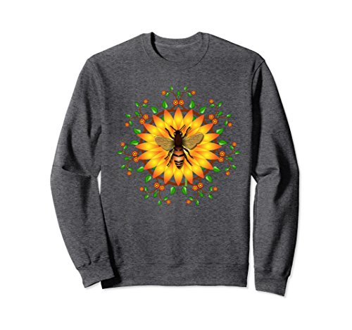 Unisex Save honey bees protect environment, ecology - Sweatshirt Large Dark - Save The Apparel Bees