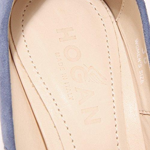 42662 spuntato Bluette women shoes decollete donna HOGAN scarpa ppqC5rw