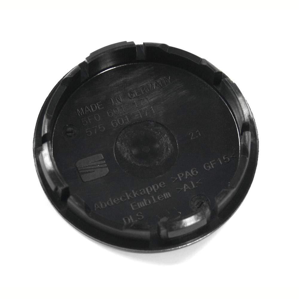 1 unidad dise/ño de cuadros color cobre Tapacubos para Seat 575601171VUW