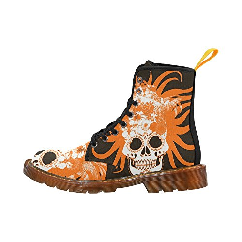 LEINTEREST hippie skull Martin Boots Fashion Shoes For Women 2TqHfPOKA