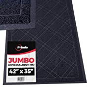 "#LightningDeal SlipToGrip Universal Door Mat – XL Size 42"" x 35"" – Anti Slip, Durable & Washable – Duraloop Mesh Entrance Outdoor & Indoor Welcome Mat – Dirt and Dust Absorber"