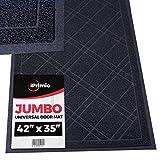 SlipToGrip - Universal Jumbo Door Mat with DuraLoop - XL Indoor/Outdoor 42'x35' Outdoor Indoor Entrance Doormat - Waterproof - Low Profile Door Mat - Welcome - Front Door, Garage, Patio - Phthalate