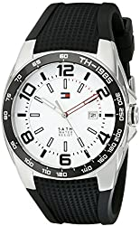 Tommy Hilfiger Men's 1790884 Sport Stainless Steel Watch With Black Silicon Band