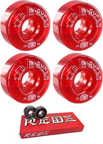 53 mm Ricta Wheels Super Crystals IIスケートボードWheels with Bones Bearings – 8 mmスケートボードベアリングBones Super Redsスケート定格 – 2アイテムのバンドル   B077PVX2GJ