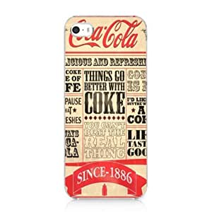 Vintage Newspaper Coca Cola Style Snap on Case Cover for Iphone 5 5s 2013 New