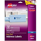 Avery Easy Peel Clear Shipping Labels for Inkjet Printers, 1.3 x 4-Inches, Pack of 140 (18662)