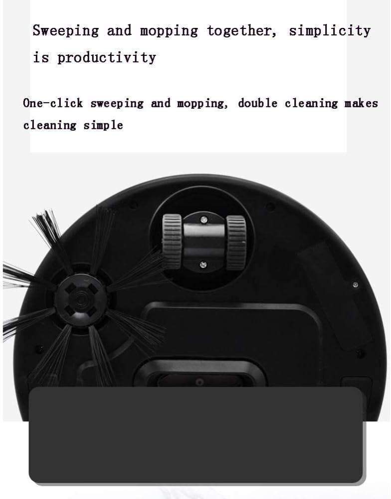 XJZKA Robot de Balayage Intelligent 1800 Pa, aspirateur Ultra-Silencieux Multifonctionnel Ultra-Mince adapté au Nettoyage du Sol en Moquette en Poils d\'animaux-Rose Rose