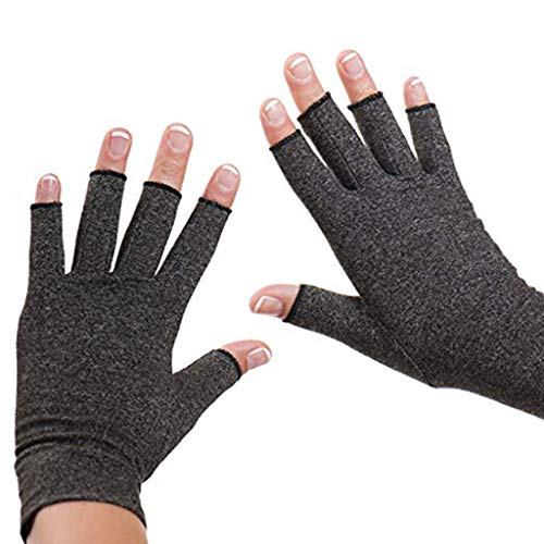 - Arthritis Gloves Compression Glove for Rheumatoid Osteoarthritis Heat Hand Gloves Compression Therapy Circulation (Gray)