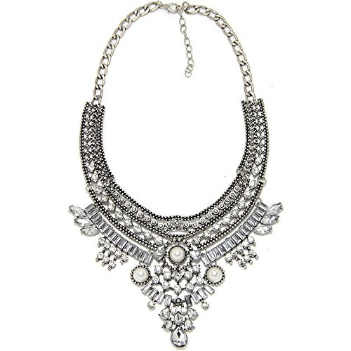 TR.OD Crystal Bib Statement Necklace Fashion Beauty Ressed Up Jewelry HITTIME