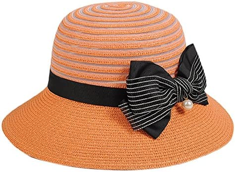 1854444caacfd JIU Sombreros Sombrero Femenino Sombrero de Paja de Verano Sombrero Plegable  de ala Ancha Sombrero de Playa Costera Escenas aplicables Diario  Ocio Turismo ...