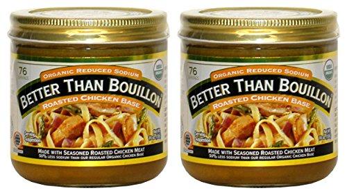 (Better Than Bouillon Organic Roasted Chicken Base, Reduced Sodium - 16 oz (2)