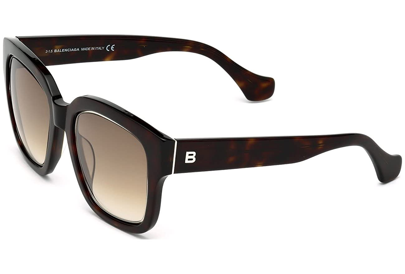 54735a46dc566 Balenciaga Sunglasses Ba50 Tortoise Ba0050-52f at Amazon Men's ...