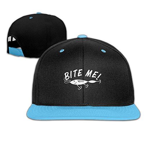 Bite Me Funny Fishing Adjustable Unisex Hip Hop Baseball Cap Stylish Mesh Cap For Children One - Kona Caps