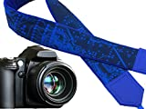 Microscheme Camera strap. Blue Camera Strap with Circuit board. Computer camera strap. For him by InTePro. code 00287