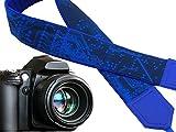 Microscheme Camera strap. Blue Camera Strap with Circuit board. Computer camera strap. For him by InTePro. code 00287