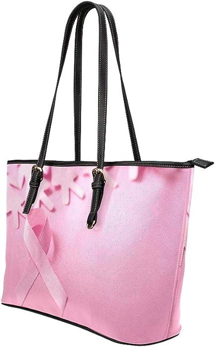Handmade Pink Ribbon Crossbody Bag