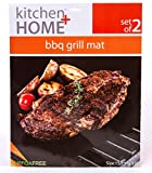 Kitchen + Home – BBQ Grill Mats -100% Non-stick, Heavy Duty, Reusable, BPA PFOA Free BBQ Grilling Accessories – 15.75 x 13 – (Set of 4) For Sale