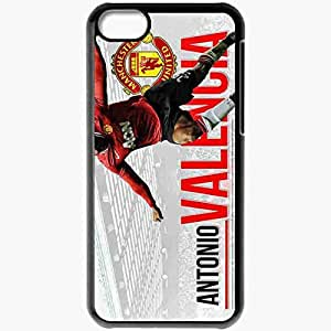 Personalized iPhone 5C Cell phone Case/Cover Skin Antonio valencia manchester united Black