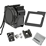 Gurmoir Protective Aluminum Alloy Skeleton Housing Case for Gopro Hero 5/Gopro HERO (2018) Action Camera, Metal Frame Protective Cage with Rear Door and 52mm UV Filter
