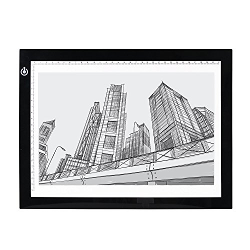 (TOSPON Tracing LED Light box A4S USB Powered Light Pad Artcraft for Drawing, Tracing, Sketching, Animation Active Area 14.1