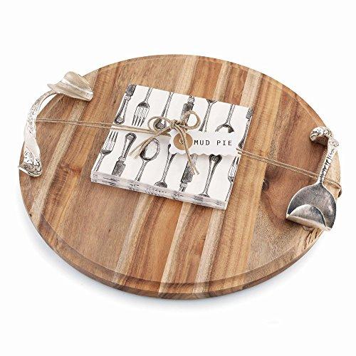 Mud Pie Round Cutting Board Set - Kitchen Utensils Gift Sets 115075MUDP