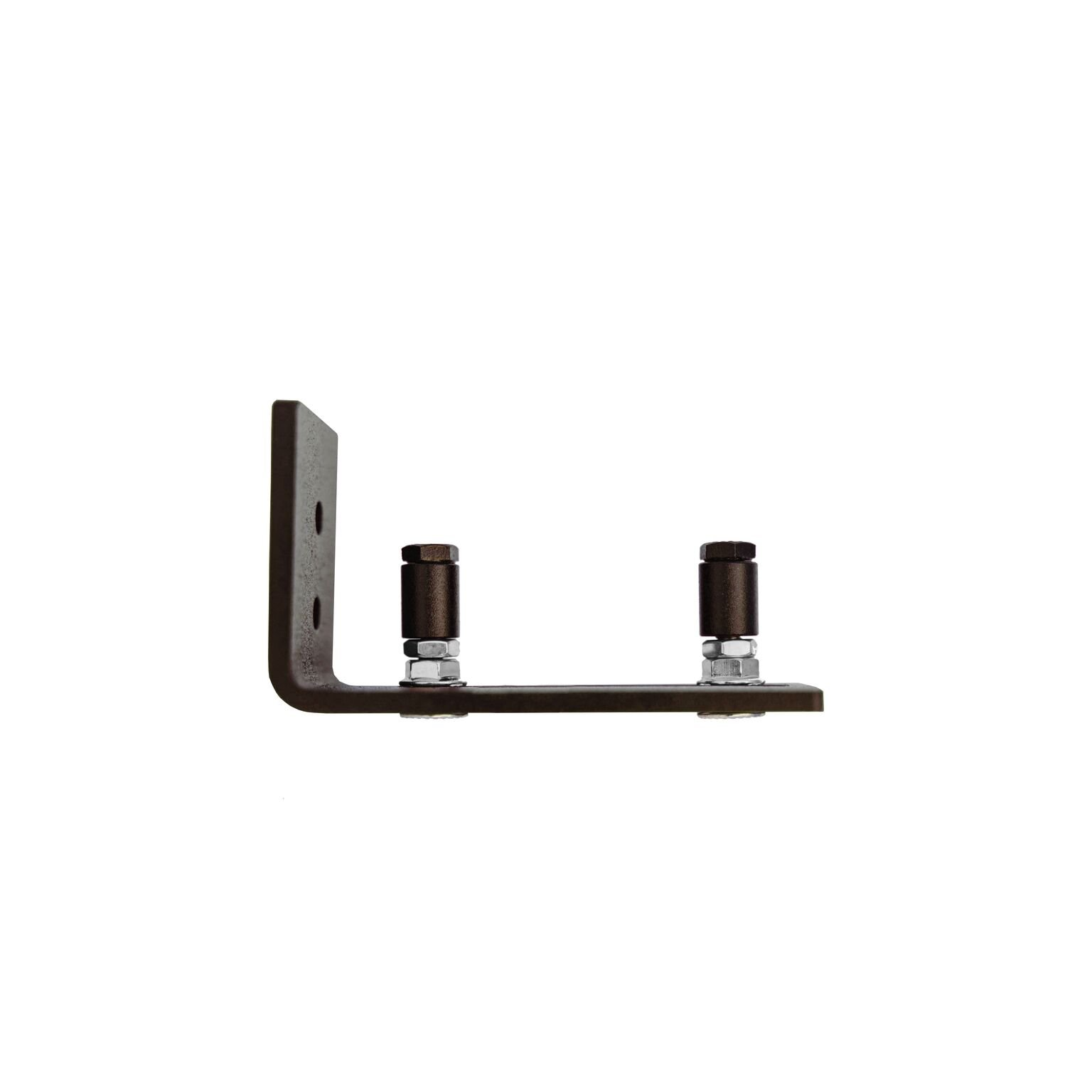 Adjustable Channel Wall Mount Floor Guide Roller for Barn Door Hardware, Powder Coated Oil Rubbed Bronze