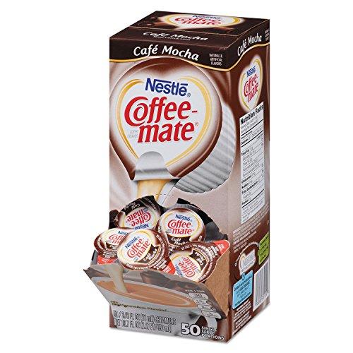 Liquid Coffee Creamer, Cafe Mocha, 0.375 Oz Cups, 50/box Tools Equipment Hand - Creamer Cafe