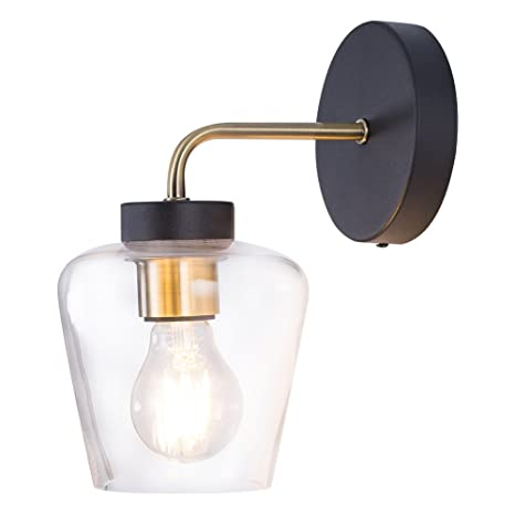Minimalist Wall Light Sconce Glass Wall Light Industrial Edison Wall Lamps  Retro Wall Bedroom Stair Lamps