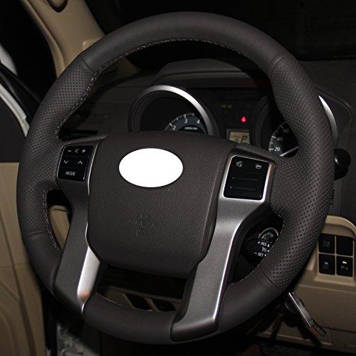 [해외]Hand Sewing 블랙 정품 가죽 핸들 커버 2012 2013 2014 2015 2016 Toyota Tacoma 2014 2015 2016 Toyota Tundra 2010 2011 2012 2013/Hand S