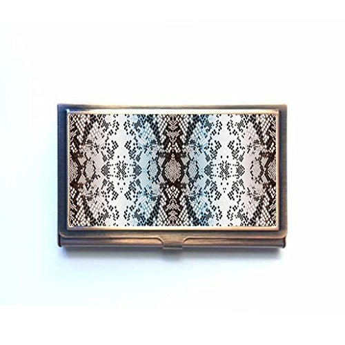Snake Skin Custom Business Bank Name Card Case Holder Bronze Box Pocket Credit Card ID - Skins Card Custom Credit