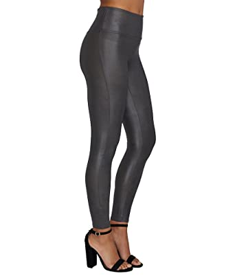 SPANX Women's Ready to Wow Faux Leather Leggings at Amazon Women's ...