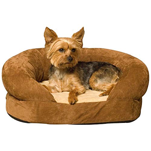 (K&H Pet Products 4711 Ortho Bolster Sleeper Pet Bed Medium Brown)