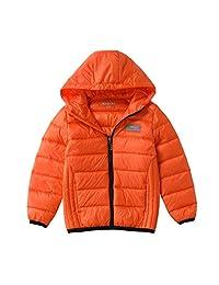 Hiheart Children Lightweight Down Jacket Hooded Unisex Kids Down Coat