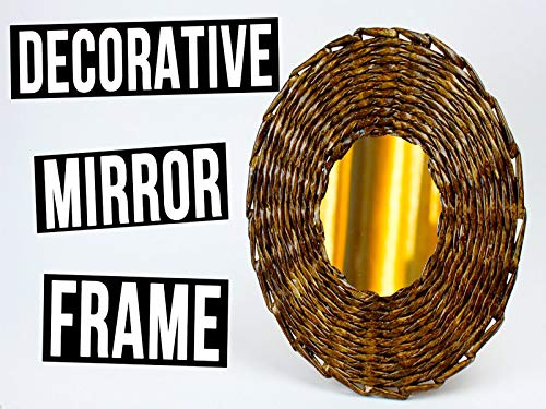 Do It Yourself Decorative Mirror Frame from Paper Tube (Ideas Mirror Wall Design)