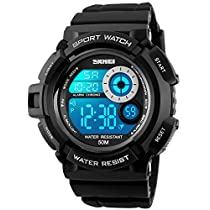 Mens Teenagers Boys Digital Sports Watches - Mens Gents Boys Juni...