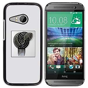 All Phone Most Case / Hard PC Metal piece Shell Slim Cover Protective Case Carcasa Funda Caso de protección para HTC ONE MINI 2 / M8 MINI silver glitter spiral poster grey black