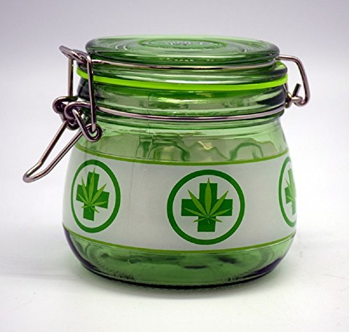 Large Medical Marijuana Glass Dank Tank Silicone Sealed Jar Pot Weed Cannabis by Fantasy Gifts