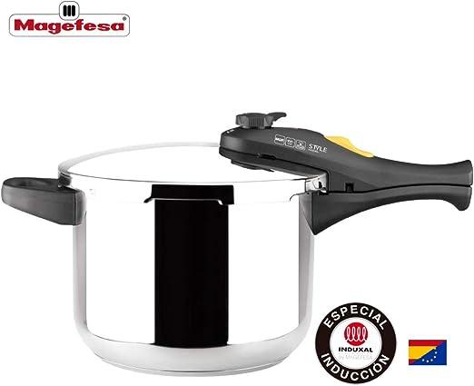 MAGEFESA Style Olla a presión Super rápida de fácil Uso, Acero ...
