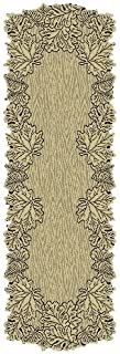 product image for Heritage Lace Leaf 20-Inch by 60-Inch Mantle Runner, Earth