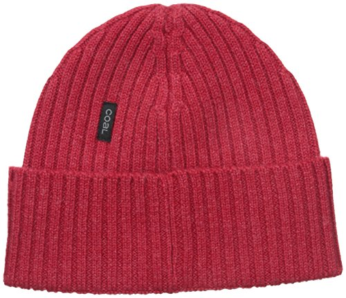 - Coal Men's The Emerson Fine Knit Merino Beanie Hat, Heather Red, One Size