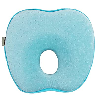 Topwon 8'' Newborn Baby Infant Cradler Head-shaping Pillow (0-12 Months) (Blue)