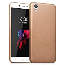 Ultra Slim PU Leather Skin Case for OnePlus X Protective Covers Shell for OnePlus X 5.0 inch(Gold)