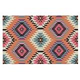 """Kess InHouse Amanda Lane """"Navajo Dreams"""" Orange Pink Decorative Doormat, 24 by 36-Inch"""