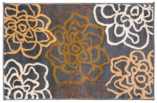 (Rugshop Contemporary Modern Floral Flowers Area Rug 2' x 3' Brown)