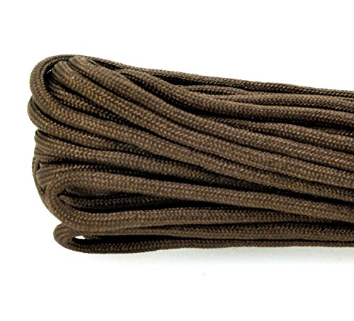Mandala Crafts® 550 Paracord Parachute Cord, 100 Feet, for Survival Bracelets and Paracord Projects (Brown)