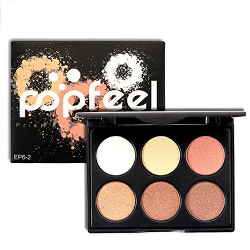 Born Beauty 6 Colors Glitter Diamond Eyeshadow Palette Eye Make Up Pigments Powder (EP-2) by Born Beauty