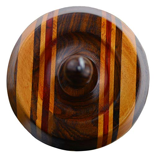 Paradise Fibers Hand Crafted Artisan Drop Spindle - Multicolored Wood - Square by Paradise Fibers (Image #1)